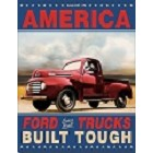 Ford Trucks Built Metal Sign