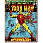 Iron Man Comic Cover Metal Sign