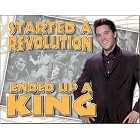 Elvis Ends Up King Metal Sign