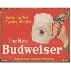 Budweiser New Metal Sign