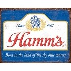 Hamm's Sky Blue Waters Metal Sign