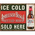 Anheuser Busch Beer Metal Sign