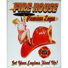 Firehouse Lager Metal Sign
