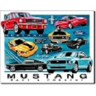 Ford - Mustang Chronology Metal Sign