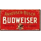 Budweiser Weathered Metal Sign