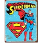 Superman with Logo Metal Sign