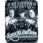 3 Stooges Knucklehead Metal Sign