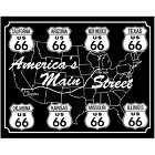 Main Street Route 66 Metal Sign