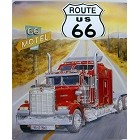Route 66 Semi Metal Sign