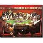 8 Dogs Playing Poker Metal Sign