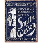 Smith & Wesson Revolver Metal Sign