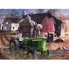 John Deere Tussle Metal Sign