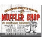 Busted Knuckle Mufflers Metal Sign