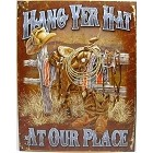 Hang Yer Hat Metal Sign