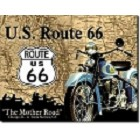 Route 66 Cycle Metal Sign