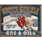 Busted Knuckle Garage Gas & Oil Metal Sign