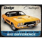Dodge Challenger Yellow Metal Sign