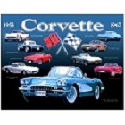 Chevy Corvette Anniversary Metal Sign