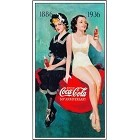Coke Girls 50 Yr Metal Sign