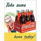 Coke Sprite Boy Metal Sign