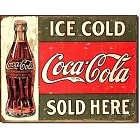 Coke Ice Cold Bottle Metal Sign