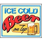 Beer Ice Cold Metal Sign