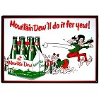 Mountain Dew 6 Pak Metal Sign