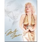 Marilyn Monroe Gold Metal Sign