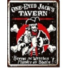 One Eyed Jacks Tavern Metal Sign
