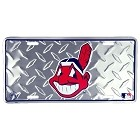 Cleveland Indian Diamond License Plate