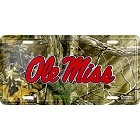 University of Mississippi Ole Miss Realtree camo License Plate