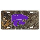Kansas State Wildcats Realtree camo License Plate