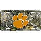 Clemson Realtree camo License Plate