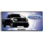 Ford Truck Blue License Plate