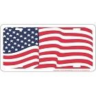 Flag Waving License Plate