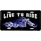Live to Ride License Plate