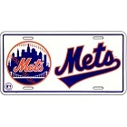 New York Mets White License Plate