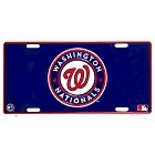 Washington Nationals Blue License Plate