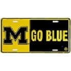 University of Michigan Go Blue License Plate