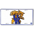 University of Kentucky Wildcats White License Plate