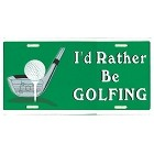 Rather Golf License Plate