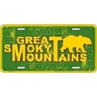 Smoky Mt. Weathered License Plate