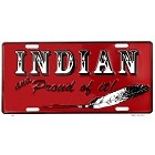 Indian & Proud License Plate