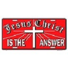 Jesus is Answer License Plate