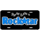 Rock Star License Plate