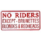 No Riders Except License Plate