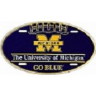 University of  Michigan Go Blue Oval License Plate