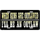 Outlaw License Plate
