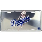 Los Angeles Dodgers Polished License Plate