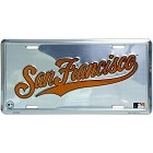 San Francisco Giants Polished License Plate